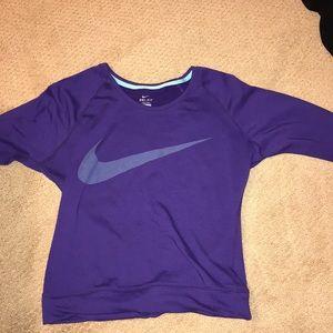 nike purple crew neck